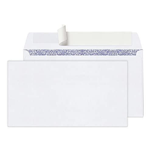 Office Depot Clean Seal(TM) Security Envelopes, 6 3/4 (3 5/8in. x 6 1/2in.), White, Box of 100, 78185