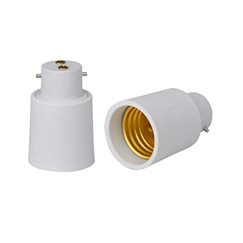 Noobibaba b22 a Base della Lampada e27 Socket Converter Socket Adattatore ignifugo pbt plastica rosh Certificato ce Materiale di Alta qualità Adattatore Vite 2 Pezzi