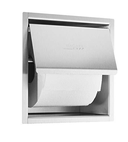 WAGNER-EWAR Toilettenpapierhalter WP157 Edelstahl für Unterputzmontage, Variante:Edelstahl matt