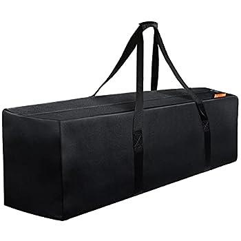 INFANZIA 47 Inch Zipper Travel Duffel Gym Sports Luggage Bag Water Resistant Oversize Black
