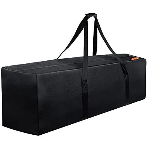 INFANZIA 47 Inch Zipper Travel Duffel Gym Sports Luggage Bag, Water Resistant Oversize, Black