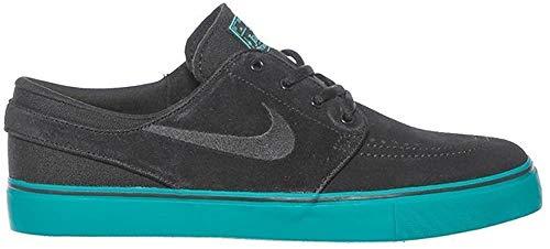Nike Stefan Janoski (GS), Zapatillas de Skateboarding Hombre, Negro (Negro (Black/Black-Rio Teal-Hyper Jade), 36.5 EU