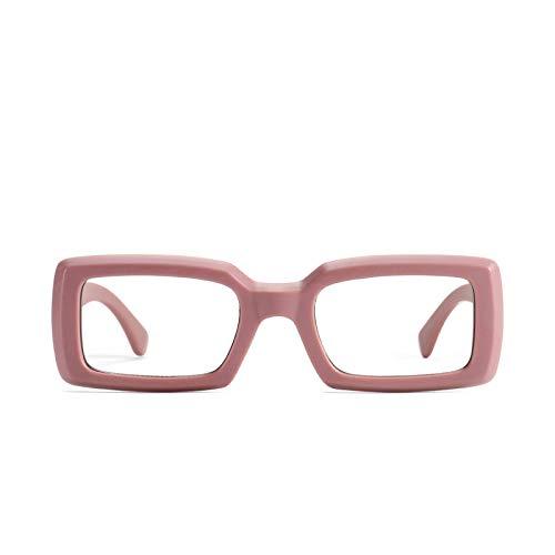 JINZUN Gafas de Sol sexuales Playa para Adultos Cara pequeña Gafas de Sol Multicolores Moda al Aire Libre Gafas Anti-UV Color de Pasta de Frijoles
