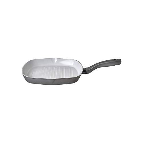 Prestige - Earth Pan - Griddle Pan Non Stick - 28cm - Toxin Free Ceramic Non Stick - Induction Suitable - Recycled and Recyclable Cookware - Dishwasher Safe - Easy Grip Handles - 5 Year Guarantee