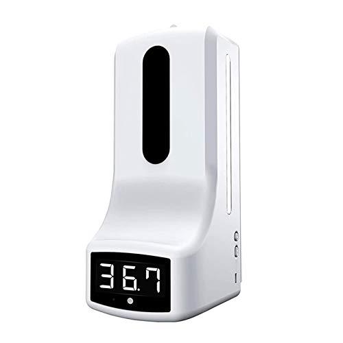 LaiYueShangMao Termómetro montado en la Pared con dispensador de Manos, medición automática de Temperatura K9, con Alarma, para escuelas de oficinas para perfumes, fragancias, champú (Color : K9)