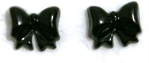 Zink Color Nail Art Jumbo Black Bow 2Pc Cell Phone Embellishment
