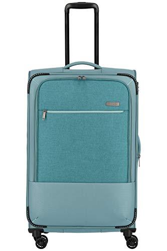 """Travelite Reisegepäck-Serie """"ARONA"""" attraktive Trolleys und Bordtaschen in 3 Farben Koffer, 77 cm, 84 L, Aqua"""