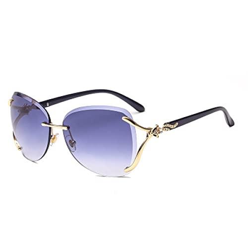 LUOXUEFEI Gafas De Sol Gafas De Sol Mujer Hombre Irregular Azul Rosa Señoras Anteojos