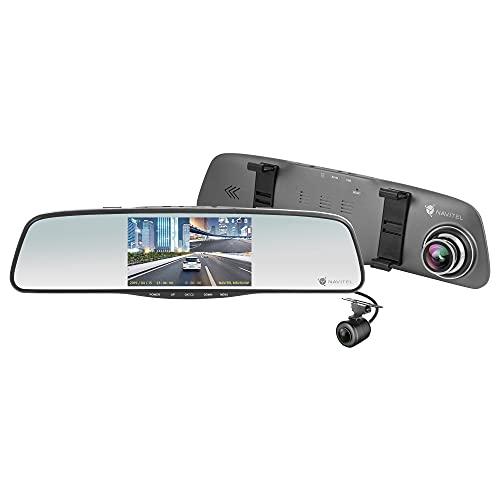 Navitel MR250NV Rückspiegel mit Dual Autokamera 1080P FHD (Touchscreen / 160° Weitwinkel/Nachtsicht/Parkmodus/Loop-Aufnahme/G-Sensor) inkl. 12 Monate Gratis Navigation