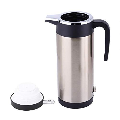 Elektrische warmwaterboiler - 1200 ml - reisketel - met sigarettenaansteker - warmwaterfles - reismok voor theekoffie (24 V)
