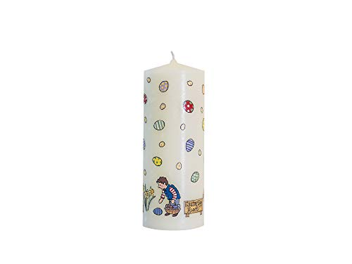 Alison Gardiner Designs - Beautiful Handfinished Egghunt Pilar Candle Approx 30 Hour Burn Time