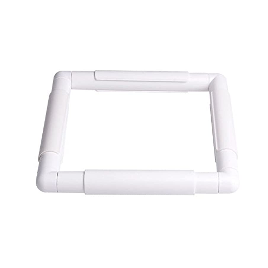 ZKer Square Embroidery Hoop, Plastic Cross Stitch Frame White Cross Stitching Frame Sewing Hoop Handhold Craft Clip Frame Embroidery Snap Frame Hoop DIY Sewing Tools for Cross Stitching Quilting