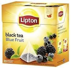 Lipton 4 Boxen Schwarzer Tee Blauer Früchtetee