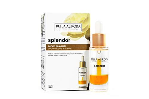 Bella Aurora Serum Facial Hidratante en Aceite Anti-Edad y Anti-Arrugas, Repara y Previene el Envejecimiento, con Ginseng Rojo y Aceite de Camelia, Splendor, 20 Mililitros