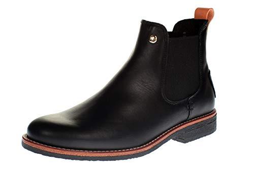 Panama Jack Damen Stiefeletten Giordana Trav, Frauen Chelsea Boots, Stiefel halbstiefel Bootie Schlupfstiefel flach,Schwarz, 40 EU / 7 UK