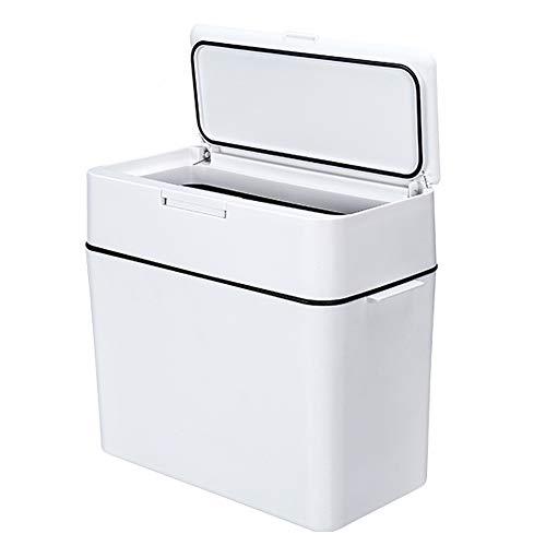 NNshoes Quadratischer Mülleimer Kunststoff (PP) Geruchsdicht Und Hygienisch Universal Umweltschutz Langlebig Badezimmer Wohnzimmer,Schwarz
