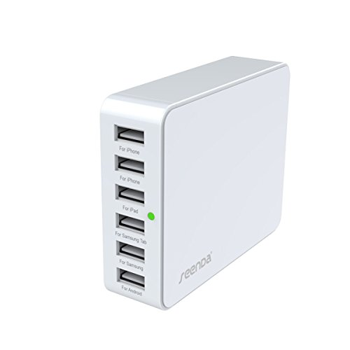 Morjava ICH-03 Compact USB Charge Desktop 6 Ports 33W Circuit Protection -White