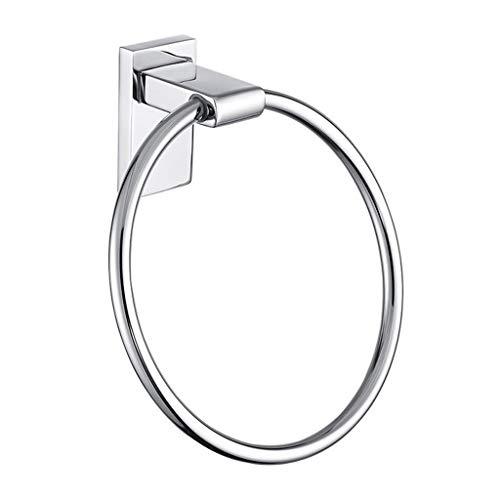 CZLSD Badetuchring - Handtuchhalter aus poliertem Edelstahl - Durchmesser170mm - Helles Silber - Für Bad und Küche