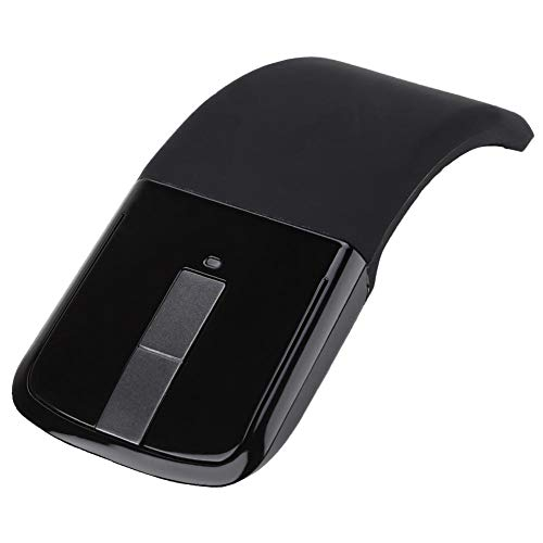 ASHATA Draadloze Bluetooth Muis 1600DPI Ergonomische Opvouwbare Arc Optische Touch Mouse Met USB Ontvanger Geschikt voor PC Laptop Notebook Mac