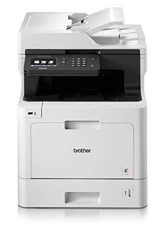 Brother DCPL8410CDW Stampante Laser Multifunzione a Colori 3 in 1, 31 ppm, Wi-Fi, Ethernet, USB 2.0, ADF da 50 Fogli, Stampa Fronte-Retro automatica, Display Touchscreen