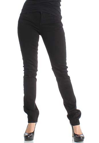 LTB Jeans Damen Aspen Y Slim Jeans, Schwarz (Black Wash 200), 28/30