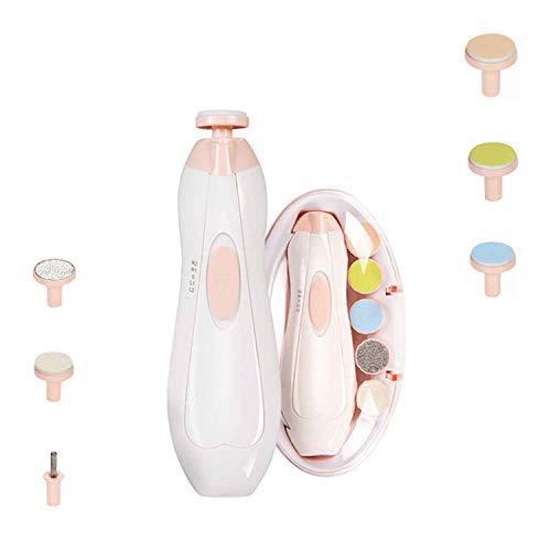 Lima recortadora de uñas para bebés con luz - Kit de cortaúñas...