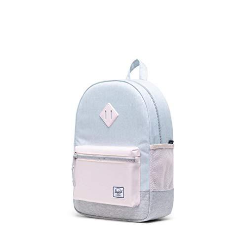 "Herschel Kids Youth Heritage 16L Back Pack - Ballad Blue Pastel Crosshatch/Rosewater Pastel/Light Grey Crosshatch size 15.5""H x 10.5""W x 4.5""D"