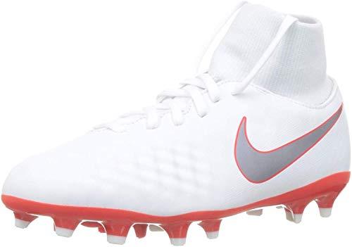 Nike Fußballschuh mit Socke Kinder Jr. Magista Obra 2 Academy (FG) Weiß Rasen (33,5)