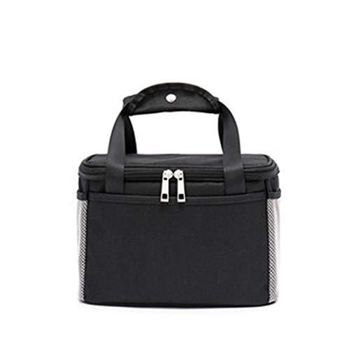 Dikke aluminium folie isolatie Waterdicht Children's Beambten met rijst Portable Isolatie Meal Bag,Black,small