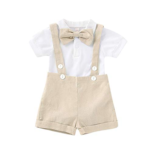 Vestido Camisero de Manga Corta con Lazo para bebé + Traje de...