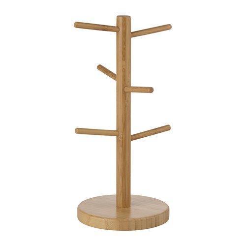 【 IKEA イケア 】 OSTBIT マグスタンド 竹 バンブー 可愛いコップスタンド 天然竹 マグスタンド