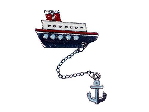 Miniblings Boot Anker emailliert Brosche Metall Schiff Schifffahrt Kapitän Meer - Handmade Modeschmuck I Anstecknadel Button Pins