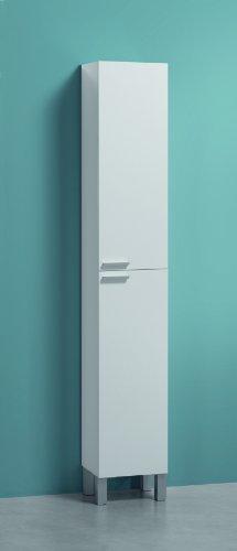 Esidra Mobile Colonna Contenitore Bagno a 2 Ante, Bianco, 30 x 182 x 25 cm