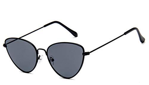 HAOMAO Gafas de Sol de Ojo de Gato pequeñas y Atractivas para Mujer Gafas de Metal de diseñador de Marca C5