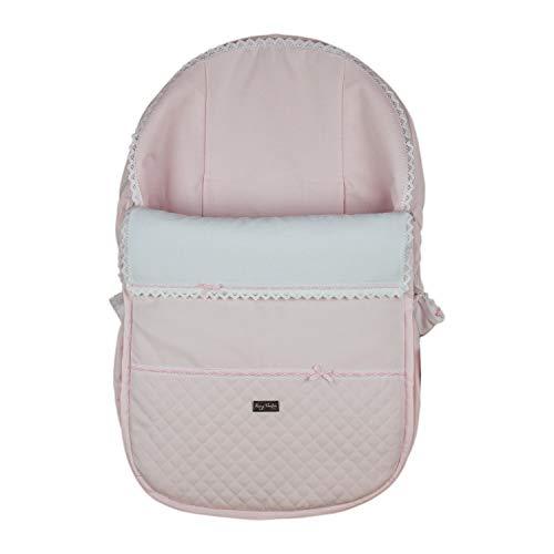 Funda + Saco Universal para silla de coche GRUPO 0 Rosy Fuentes en color rosa