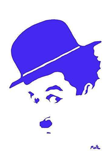 5Stück Charlie Chaplin 'Legenden und Ikonen' Grüße Karten von Matt Smith
