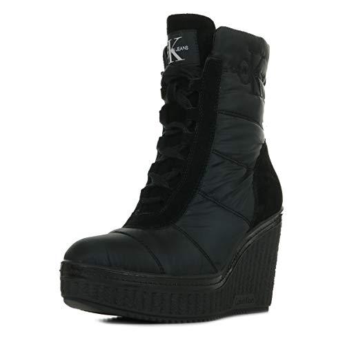 Calvin Klein RE9774BLK, Zapatillas Mujer, Black, 40 EU