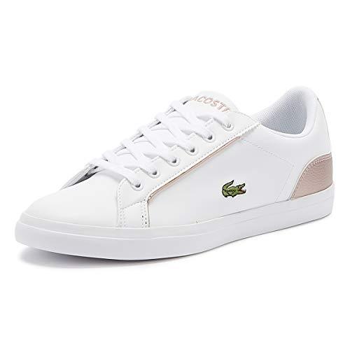 LACOSTE Lerond 319 2 CUJ Zapatillas Moda Chicas Blanco/Rosa - 39 - Zapatillas Bajas