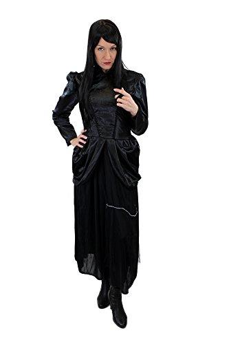 Wig Me Up - Costume pour Femme : Robe des 80'S New Wave, De Style Gothique, Baroque, Lolita, Sorcière Vampire, Moyen-Age - Taille : 42