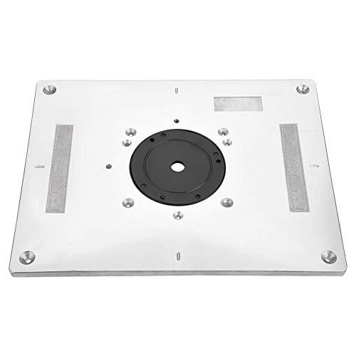 Inlegplaat voor freestafel van aluminiumlegering met inlegring en montageschroeven