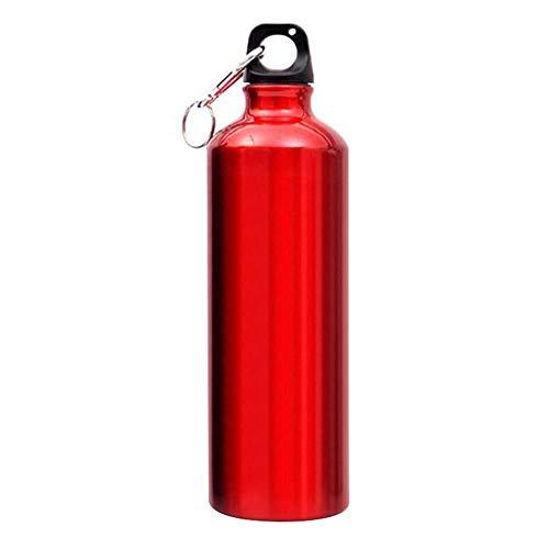 750ml Aluminium Sports Water Bottle Kolf Travel Drink Water Bottle Cup Sports Travel Bottle Cup for Outdoor Sport Wandelen Hardlopen Black (Color : Red)
