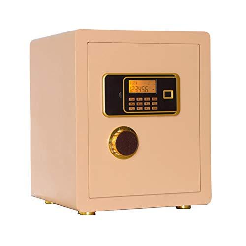 JRC Caja Fuerte Mecánica con Llaves, Caja De Cabecera Electrónica De 45 Cm, Caja De Contraseña Oculta 380 * 360 * 450 con Alarma Champagne Gold