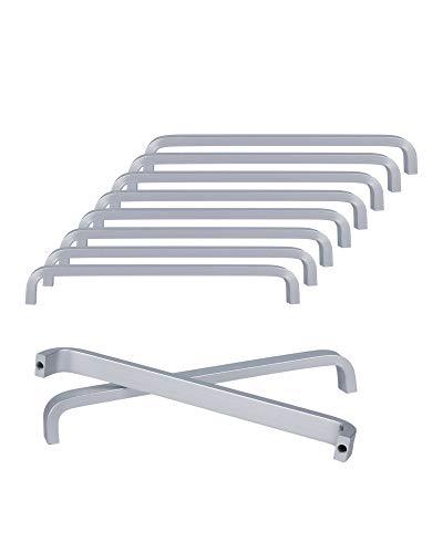 SPDYCESS 10 Piezas Tirador de Aleación de Aluminio Tiradores para Muebles Cajones Armario Alacenas Palancas de Puerta(Distancia del Agujero 128MM)