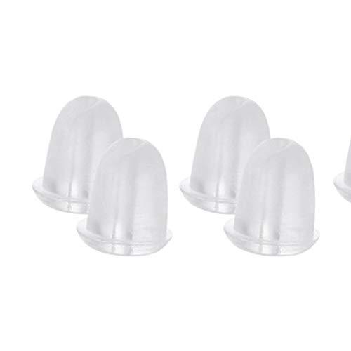 F-blue Pendiente de Goma 100pcs Volver Plug Tapa Transparente de Silicona Suave antialérgica Seguridad Pendientes de tapón Tapones para los oídos