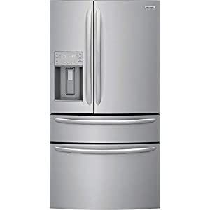 """Frigidaire 4 Piece Kitchen Appliance Package with FG4H2272UF 36"""" French Door Refrigerator FGET3066UF 30"""" Electric Double Wall Oven FGEC3648US 36"""" Electric Cooktop and FGID2479SF 24"""" Built In Fully Integrated Dishwasher in Stainless Steel"""