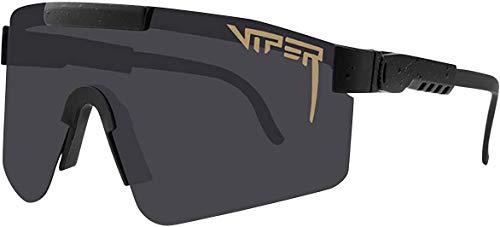Gepolariseerde Pit-Viper-zonnebril, UV400-beschermingsbril, Outdoor-fietsbril, Pit Vipers-fietsbril UV400 Sport-gepolariseerde zonnebril voor heren Dames (C1)