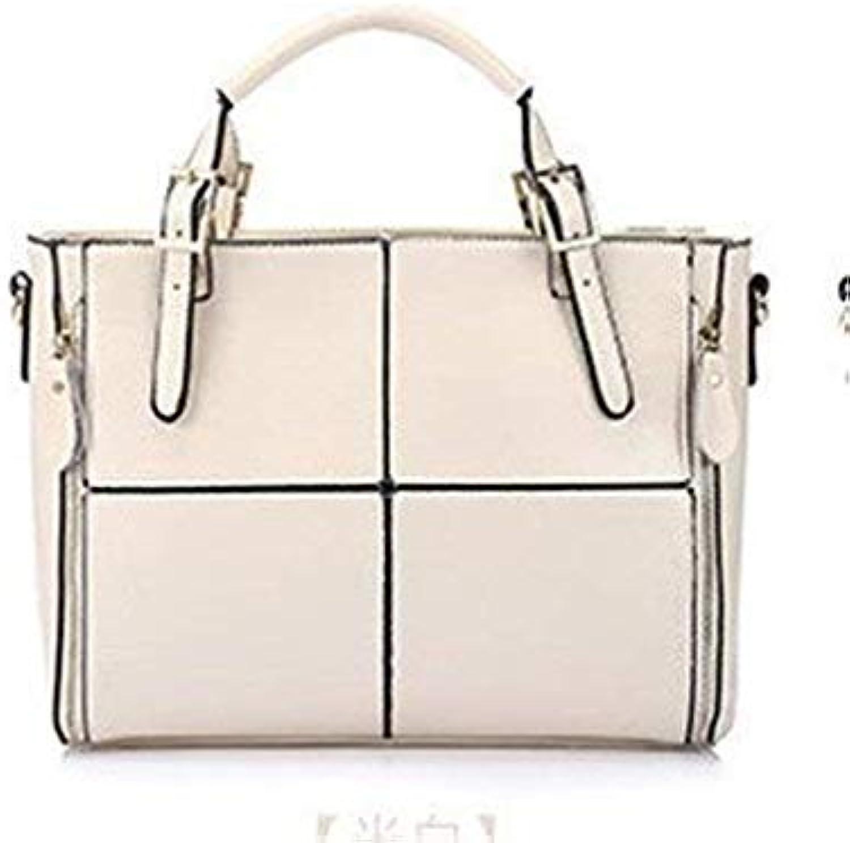 Bloomerang VMOHUO Brand Leather Bag Female Large Shoulder Bag for Women Big Black Luxury Famous Brand Women Totes Handbag Ladies Hand Bags color White 32x12x23cm