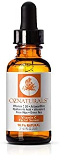 OZNaturals Vitamin C Serum for Face: Vitamin C Facial and Under Eye Serum with Hyaluronic Acid - Wrinkle Remover Serum to ...