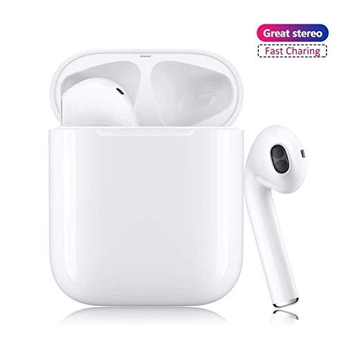 Bluetooth 5.0 Kabellose Kopfhörer, Bluetooth-Ohrhörer mit Mikrofon, automatische Kopplung, Noise Cancelling 3D Stereo IPX5 wasserdichte Sport-Headset Kompatibel mit Android/iPhone/Samsung