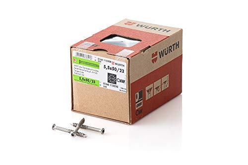 Würth Terrassenbauschraube Edelstahl AW20 5,5X50/23 Teilgewinde 250 Stück/Pack